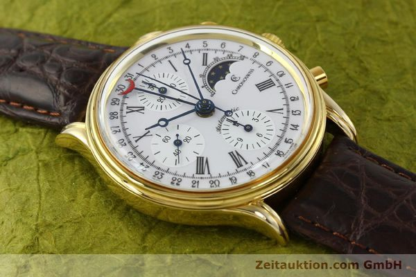 Used luxury watch Chronoswiss A. Rochat chronograph gold-plated automatic Kal. Valj. 7750 Ref. 77990  | 150172 13