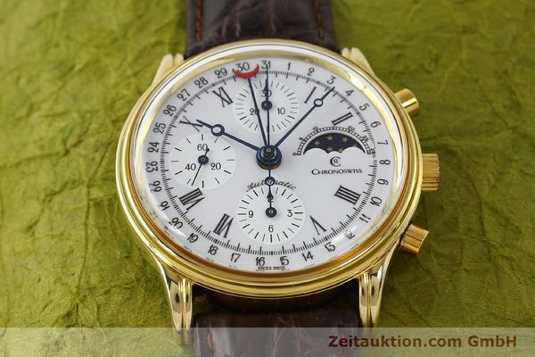 Used luxury watch Chronoswiss A. Rochat chronograph gold-plated automatic Kal. Valj. 7750 Ref. 77990  | 150172 14