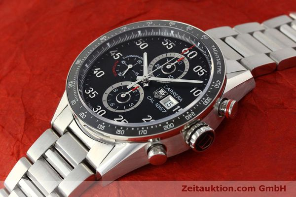Used luxury watch Tag Heuer Carrera chronograph steel automatic Kal. 1887 Ref. CAR2A10  | 150177 01