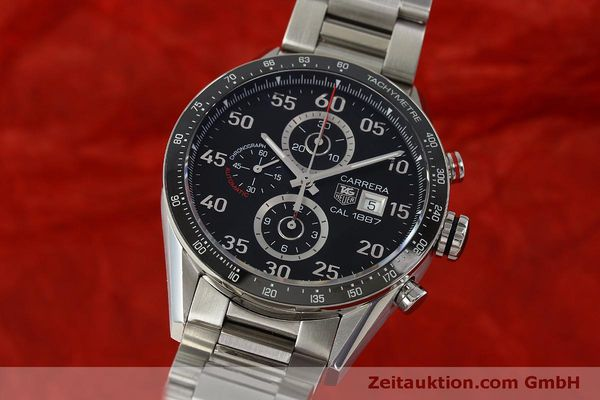Used luxury watch Tag Heuer Carrera chronograph steel automatic Kal. 1887 Ref. CAR2A10  | 150177 04