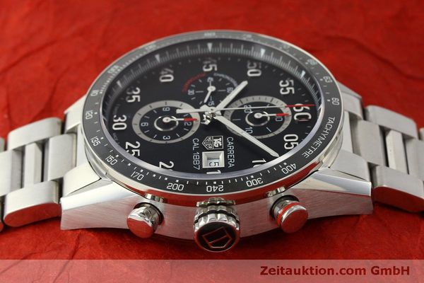 Used luxury watch Tag Heuer Carrera chronograph steel automatic Kal. 1887 Ref. CAR2A10  | 150177 05