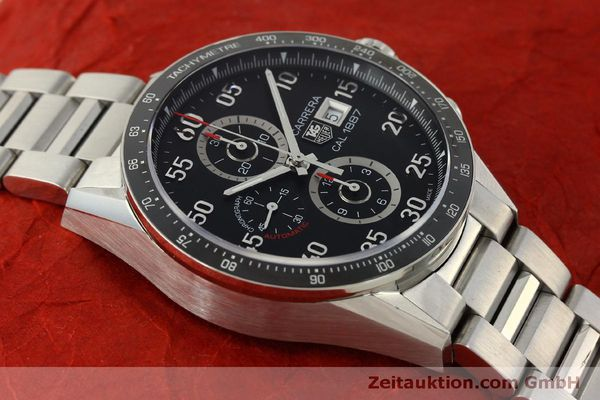 Used luxury watch Tag Heuer Carrera chronograph steel automatic Kal. 1887 Ref. CAR2A10  | 150177 15