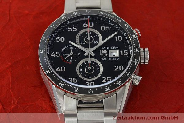 Used luxury watch Tag Heuer Carrera chronograph steel automatic Kal. 1887 Ref. CAR2A10  | 150177 16
