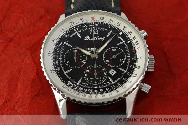 Used luxury watch Breitling Montbrillant chronograph steel automatic Kal. B41 ETA 2892A2 Ref. A41330  | 150178 15