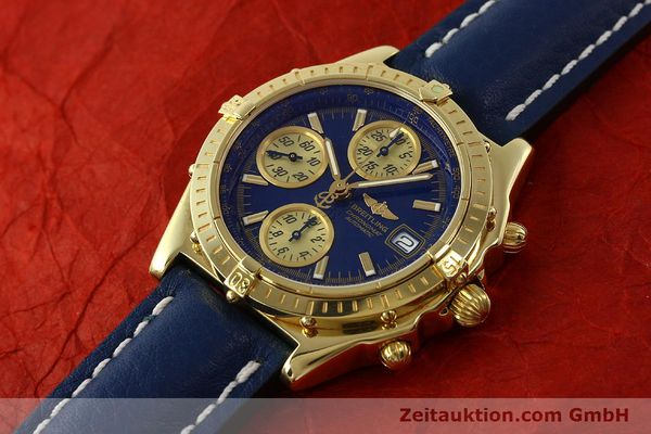 Used luxury watch Breitling Chronomat chronograph 18 ct gold automatic Kal. B13 ETA 7750 Ref. K13050.1  | 150187 01