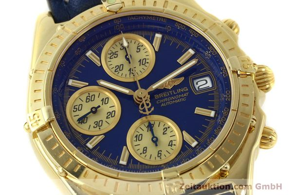 Used luxury watch Breitling Chronomat chronograph 18 ct gold automatic Kal. B13 ETA 7750 Ref. K13050.1  | 150187 02