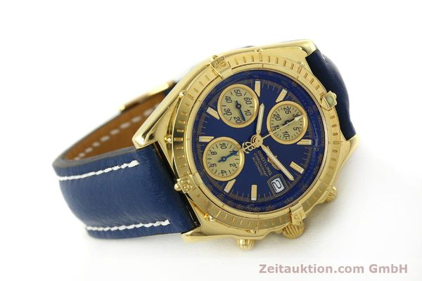 Used luxury watch Breitling Chronomat chronograph 18 ct gold automatic Kal. B13 ETA 7750 Ref. K13050.1  | 150187 03