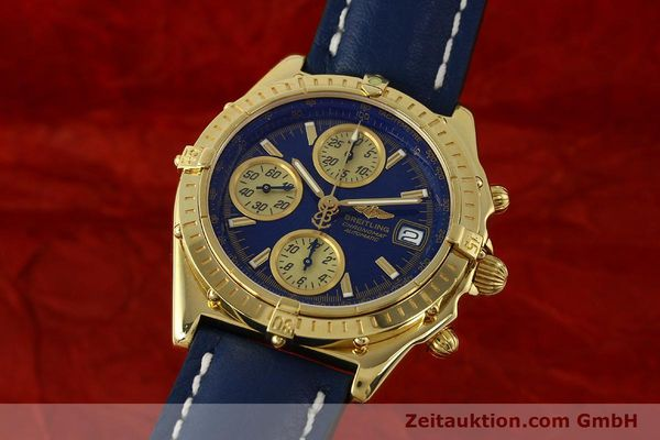 Used luxury watch Breitling Chronomat chronograph 18 ct gold automatic Kal. B13 ETA 7750 Ref. K13050.1  | 150187 04