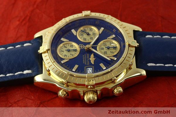 Used luxury watch Breitling Chronomat chronograph 18 ct gold automatic Kal. B13 ETA 7750 Ref. K13050.1  | 150187 05