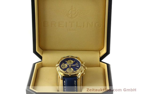 Used luxury watch Breitling Chronomat chronograph 18 ct gold automatic Kal. B13 ETA 7750 Ref. K13050.1  | 150187 07