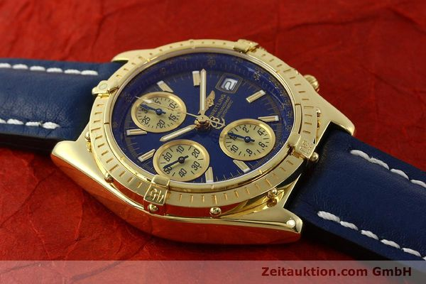 Used luxury watch Breitling Chronomat chronograph 18 ct gold automatic Kal. B13 ETA 7750 Ref. K13050.1  | 150187 16