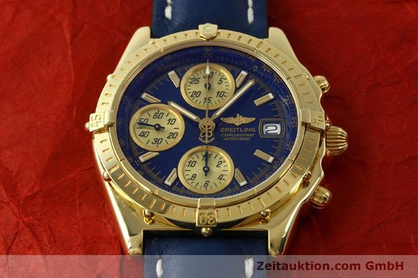 Used luxury watch Breitling Chronomat chronograph 18 ct gold automatic Kal. B13 ETA 7750 Ref. K13050.1  | 150187 17