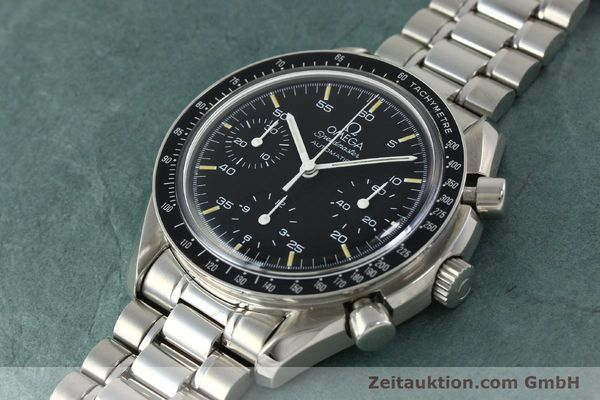 Used luxury watch Omega Speedmaster chronograph steel automatic Kal. 1143 ETA 2890A2  | 150219 01