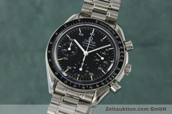 Used luxury watch Omega Speedmaster chronograph steel automatic Kal. 1143 ETA 2890A2  | 150219 04