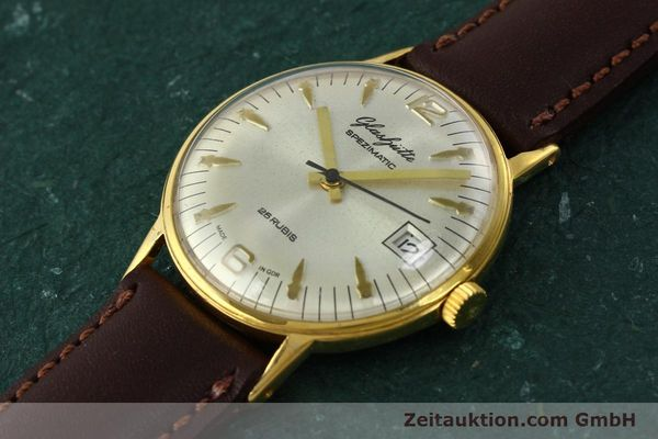 Used luxury watch Glashütte Spezimatic gold-plated automatic Kal. 75  | 150230 01