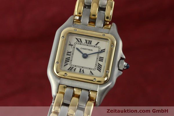 Used luxury watch Cartier Panthere steel / gold quartz Kal. 057  | 150232 04