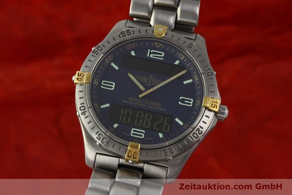 Used luxury watch Breitling Aerospace chronograph titanium / gold quartz Kal. B65 ETA E10391 Ref. F65062  | 150234 04