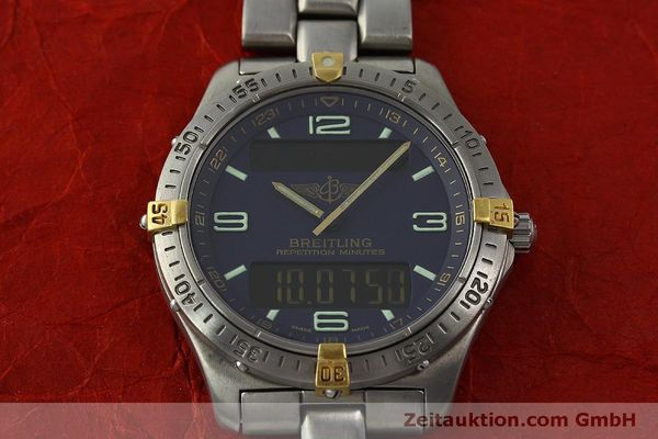 Used luxury watch Breitling Aerospace chronograph titanium / gold quartz Kal. B65 ETA E10391 Ref. F65062  | 150234 13