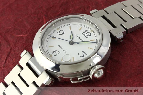Used luxury watch Cartier Pasha steel automatic Kal. 049 ETA 2892A2  | 150238 01