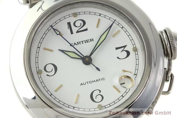 Used luxury watch Cartier Pasha steel automatic Kal. 049 ETA 2892A2  | 150238 02