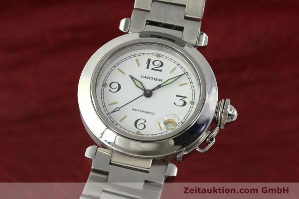 Used luxury watch Cartier Pasha steel automatic Kal. 049 ETA 2892A2  | 150238 04
