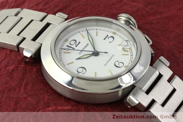 Used luxury watch Cartier Pasha steel automatic Kal. 049 ETA 2892A2  | 150238 14
