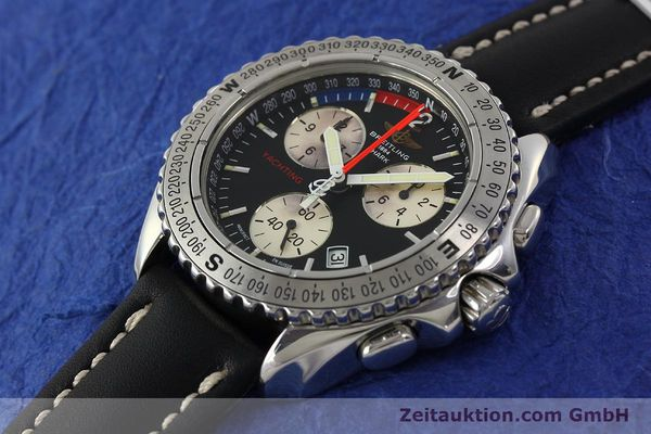 Used luxury watch Breitling Yachting chronograph steel quartz Kal. B53 ETA 251.262 Ref. A53606  | 150265 01