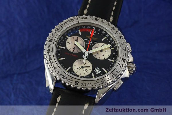 Used luxury watch Breitling Yachting chronograph steel quartz Kal. B53 ETA 251.262 Ref. A53606  | 150265 04