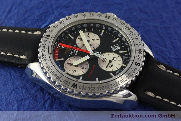 Used luxury watch Breitling Yachting chronograph steel quartz Kal. B53 ETA 251.262 Ref. A53606  | 150265 12
