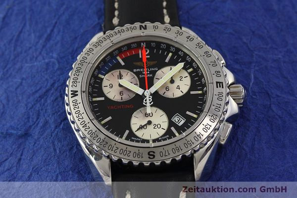 Used luxury watch Breitling Yachting chronograph steel quartz Kal. B53 ETA 251.262 Ref. A53606  | 150265 13