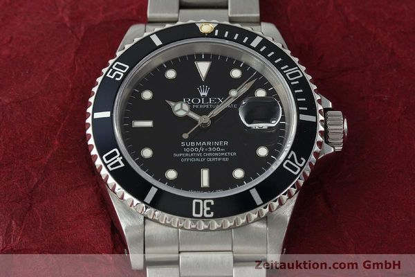 Used luxury watch Rolex Submariner steel automatic Kal. 3135 Ref. 16610  | 150310 16
