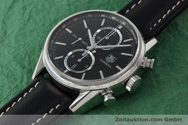 Used luxury watch Tag Heuer Carrera chronograph steel automatic Kal. 1887 Ref. RAAU4846  | 150313 01