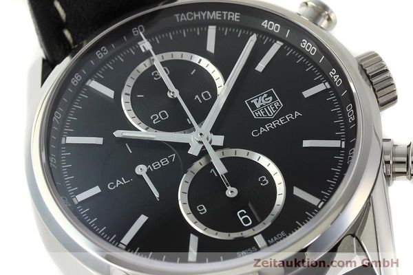 Used luxury watch Tag Heuer Carrera chronograph steel automatic Kal. 1887 Ref. RAAU4846  | 150313 02