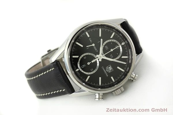 Used luxury watch Tag Heuer Carrera chronograph steel automatic Kal. 1887 Ref. RAAU4846  | 150313 03