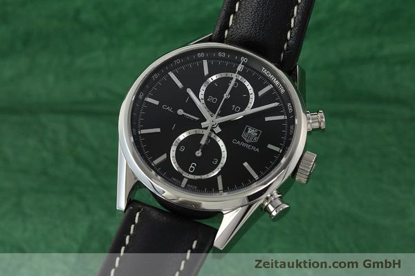 Used luxury watch Tag Heuer Carrera chronograph steel automatic Kal. 1887 Ref. RAAU4846  | 150313 04