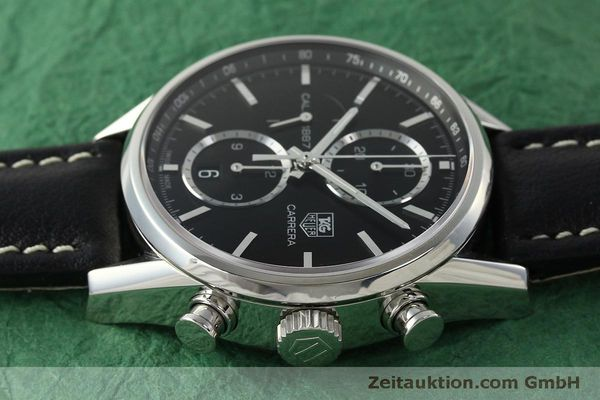 Used luxury watch Tag Heuer Carrera chronograph steel automatic Kal. 1887 Ref. RAAU4846  | 150313 05