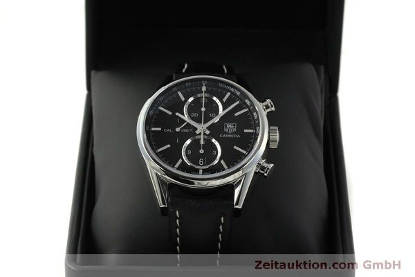Used luxury watch Tag Heuer Carrera chronograph steel automatic Kal. 1887 Ref. RAAU4846  | 150313 07