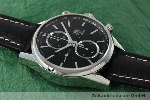 Used luxury watch Tag Heuer Carrera chronograph steel automatic Kal. 1887 Ref. RAAU4846  | 150313 14