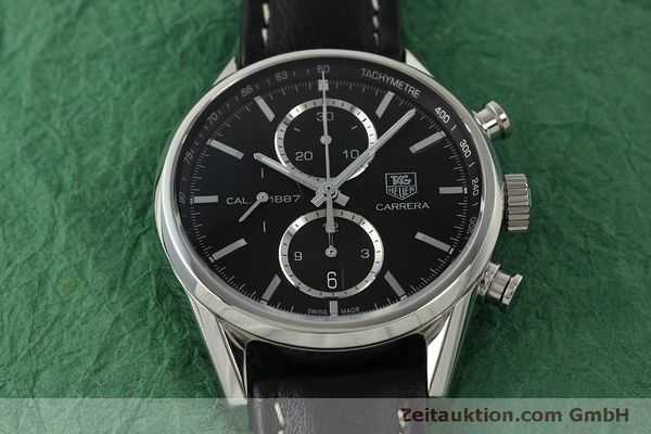 Used luxury watch Tag Heuer Carrera chronograph steel automatic Kal. 1887 Ref. RAAU4846  | 150313 15