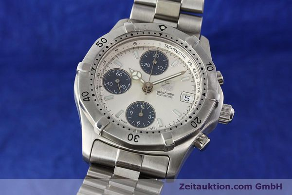 Used luxury watch Tag Heuer Professional chronograph steel automatic Kal. ETA 7750 Ref. K2110  | 150315 04