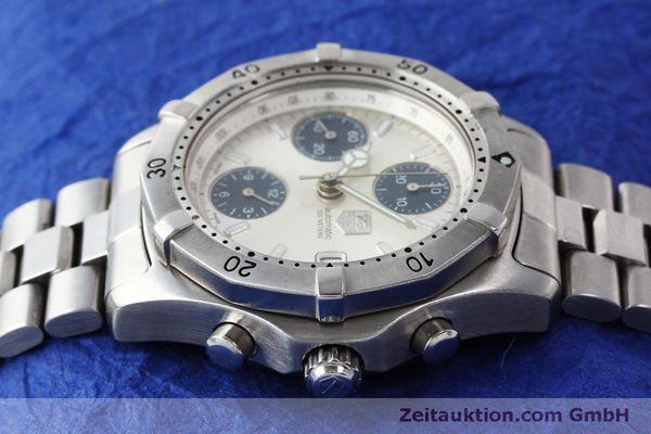 Used luxury watch Tag Heuer Professional chronograph steel automatic Kal. ETA 7750 Ref. K2110  | 150315 05