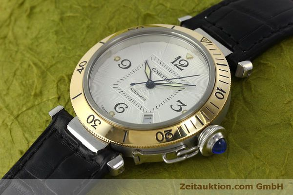 Used luxury watch Cartier Pasha steel / gold automatic Kal. 191  | 150317 01