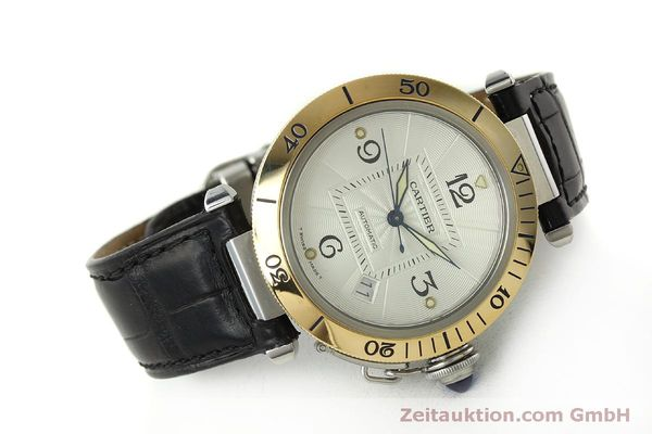 Used luxury watch Cartier Pasha steel / gold automatic Kal. 191  | 150317 03