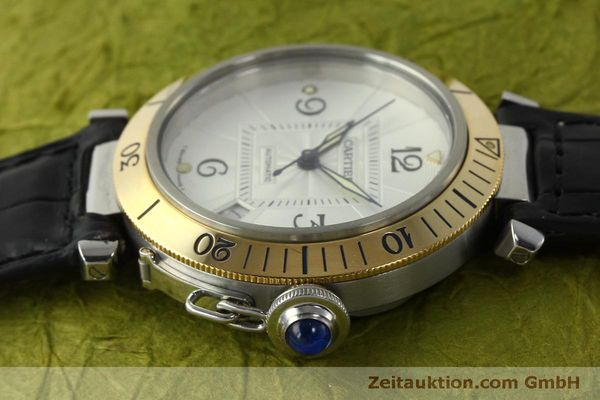 Used luxury watch Cartier Pasha steel / gold automatic Kal. 191  | 150317 05