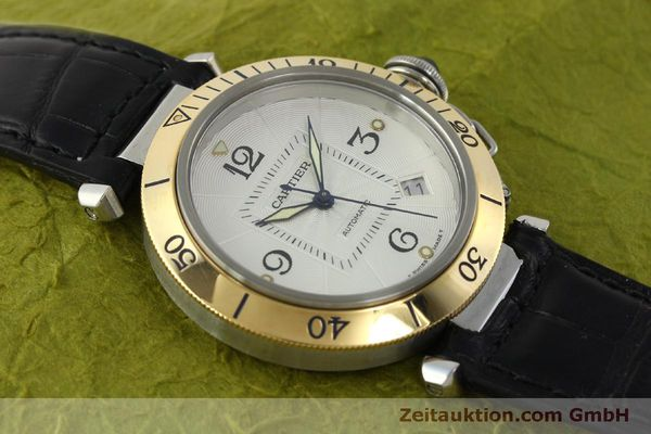 Used luxury watch Cartier Pasha steel / gold automatic Kal. 191  | 150317 14