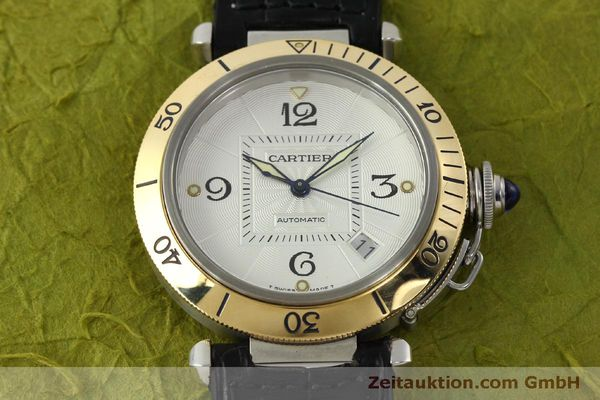 Used luxury watch Cartier Pasha steel / gold automatic Kal. 191  | 150317 15