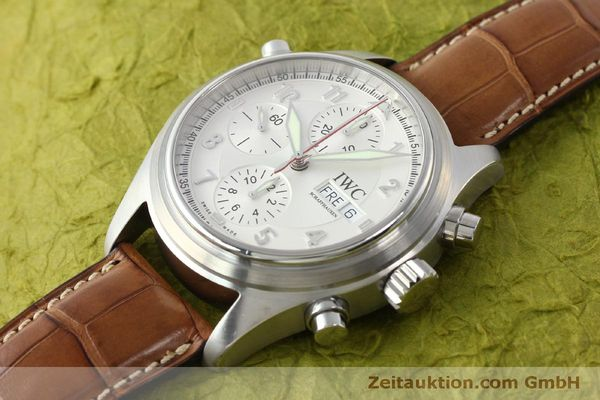 Used luxury watch IWC Doppelchronograph chronograph steel automatic Kal. 79230 Ref. 3713  | 150318 01