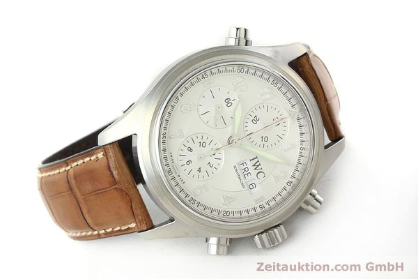 Used luxury watch IWC Doppelchronograph chronograph steel automatic Kal. 79230 Ref. 3713  | 150318 03
