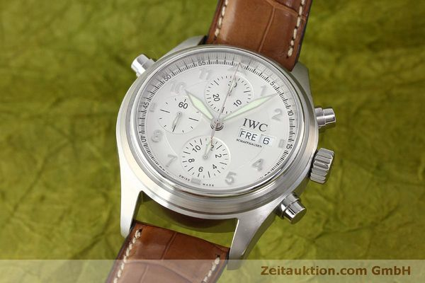 Used luxury watch IWC Doppelchronograph chronograph steel automatic Kal. 79230 Ref. 3713  | 150318 04