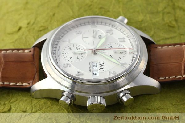 Used luxury watch IWC Doppelchronograph chronograph steel automatic Kal. 79230 Ref. 3713  | 150318 05